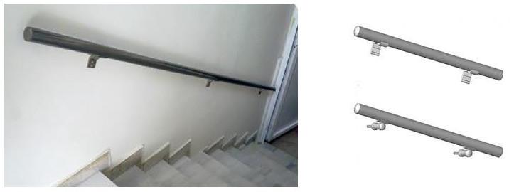 balustrade mana curenta perete aluminiu